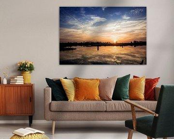 zonsondergang in Terborg aan de oude IJssel in de Achterhoek