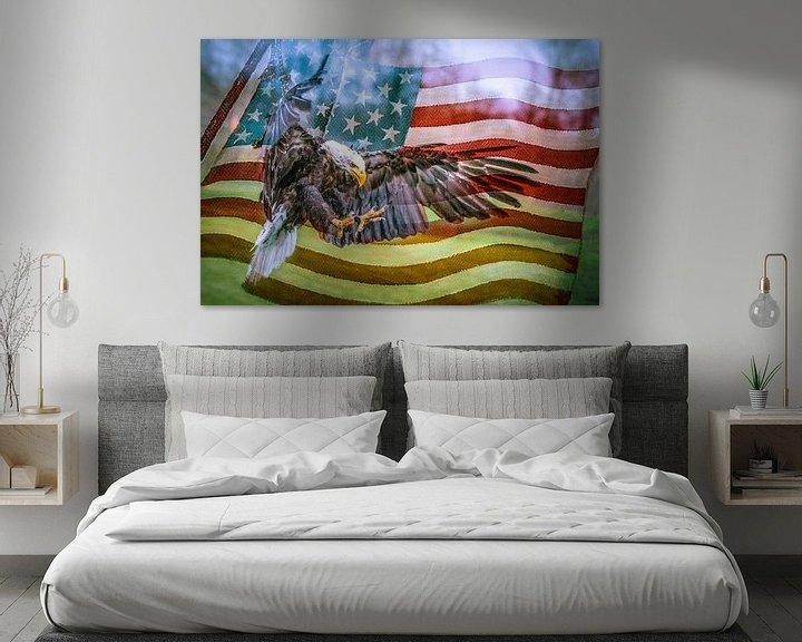 Sfeerimpressie: Arend op vlag van Freddy Hoevers