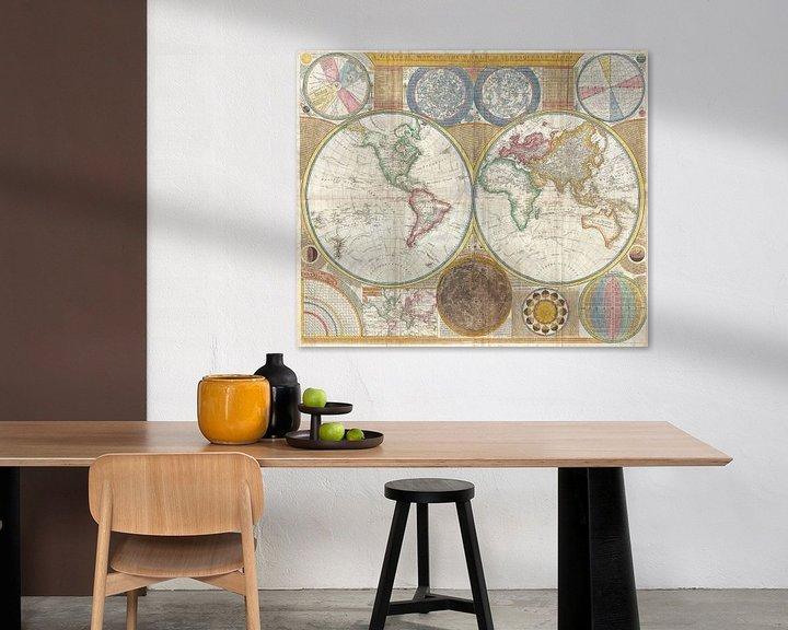 Sfeerimpressie: Kaart van de wereld 1794 van Atelier Liesjes