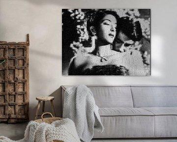Mosaik von Nargis-Raj Kapoor