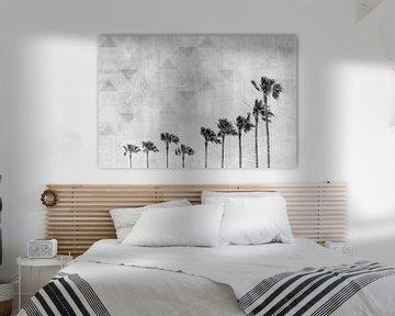 Californië Vibes Monochrome Kunst van Melanie Viola