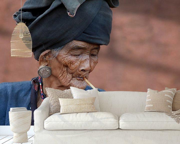 Beispiel fototapete: Frau, Keng Tung, Myanmar (Burma) von Jeroen Florijn