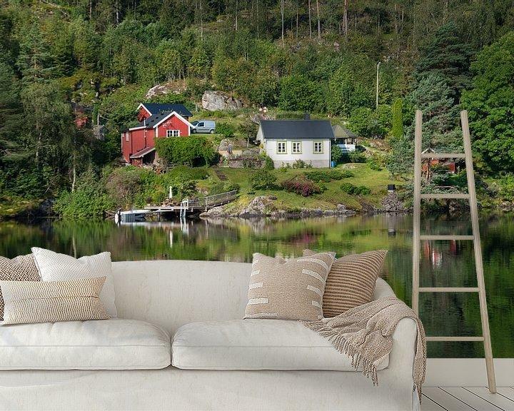 Sfeerimpressie behang: Silent Norway van Dirk Sander