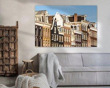 Häuser in der Prinsengracht in Amsterdam von Werner Dieterich