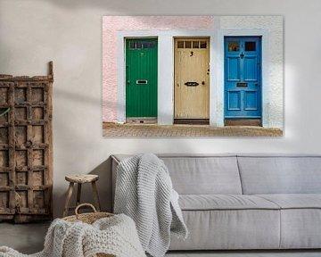 Drei bunte Türen in Schottland von Werner Dieterich
