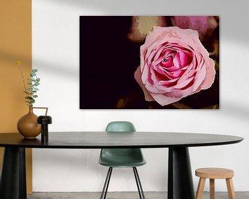 Pink rose van Art by Jeronimo