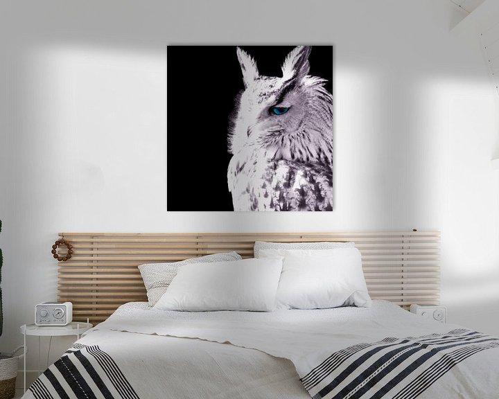 Sfeerimpressie: Uilen jagen 's nachts van Tanja Riedel