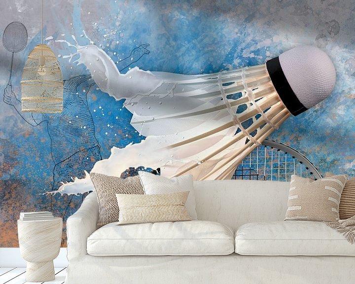 Beispiel fototapete: Sport trifft Splash - Badminton von Erich Krätschmer