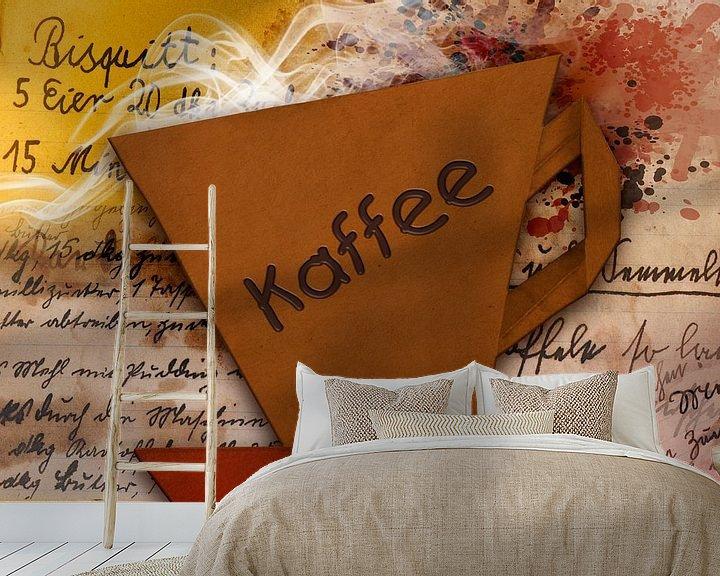 Beispiel fototapete: Origami trifft Küche - Kaffee von Erich Krätschmer