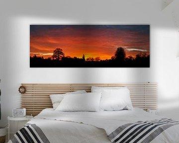 Kleurige zonsondergang van Corinne Welp