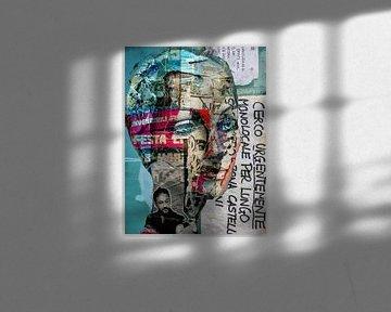 A collage of blue eyes von Gabi Hampe