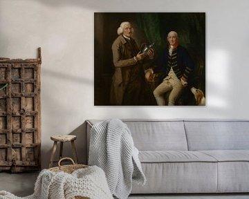 Porträt von William Anne Hollis und Thomas Clutterbuck, Thomas Gainsborough