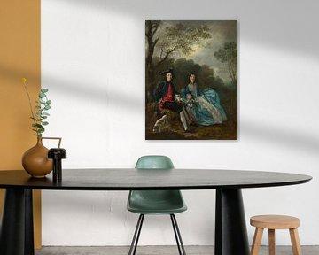 Porträt des Künstlers mit seiner Frau und Tochter Thomas Gainsborough