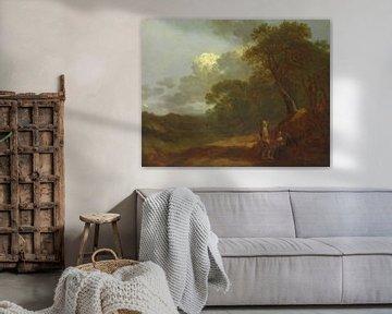 Waldlandschaft mit einem Mann im Gespräch mit zwei sitzenden Frauen, Thomas Gainsborough