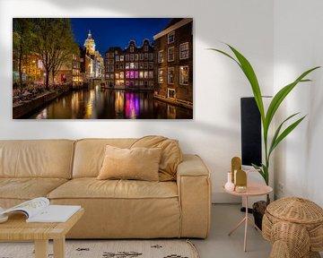 Oudezijdsvoorburgwal Amsterdam van Erik Wilderdijk