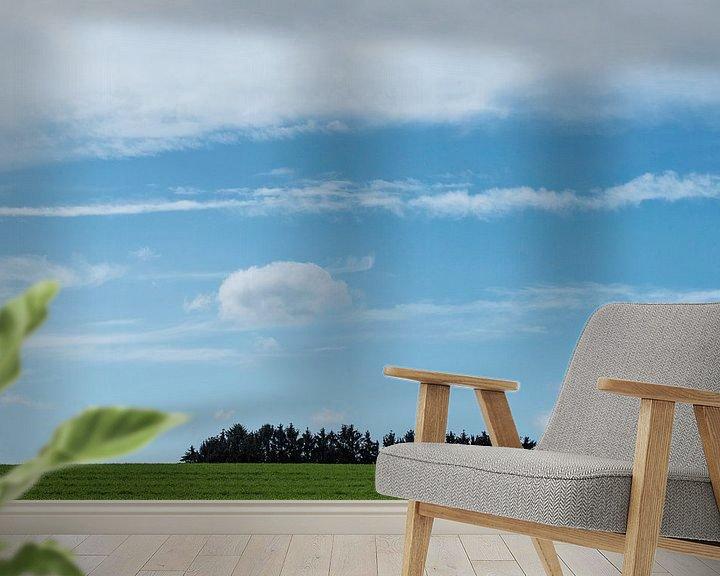 Sfeerimpressie behang: Bomeneiland van Marian Smeets