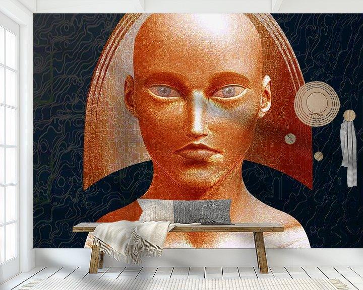 Sfeerimpressie behang: De Oudheid van Ton van Hummel (Alias HUVANTO)