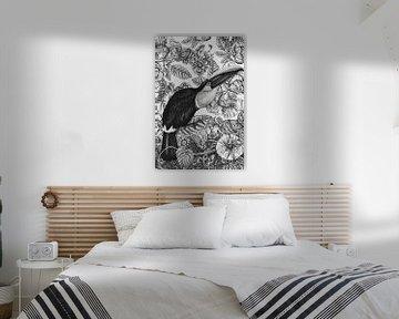 Vintage Vogel von Marja van den Hurk
