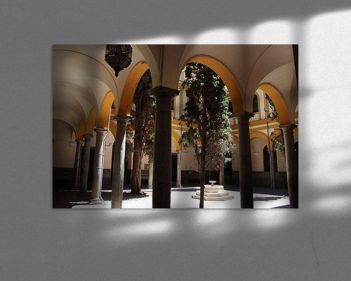 Sfeerimpressie: binnenplein met bogen architectuur van Jan Katuin