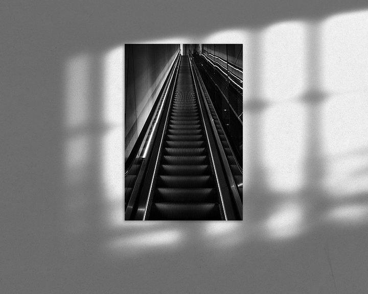 Sfeerimpressie: roltrap op sation van Bart Rondeel