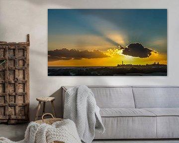 Zon en wolk boven Maspalomas, Gran Canaria van arjan doornbos
