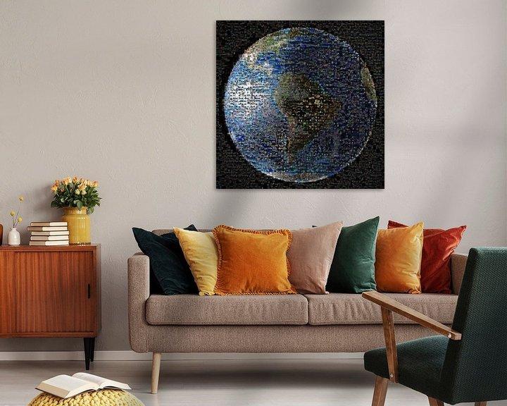 Sfeerimpressie: Aarde als mozaïek, van Nasa van Atelier Liesjes