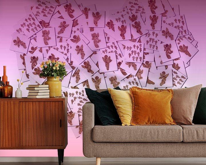 Sfeerimpressie behang: Hart collage van foto's van Atelier Liesjes