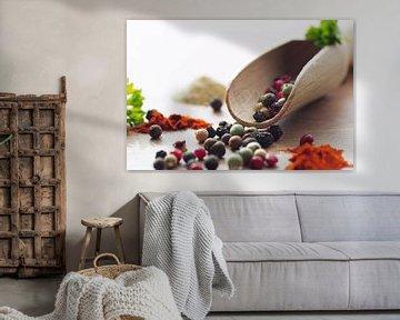 Kleurrijke peper en specerijen