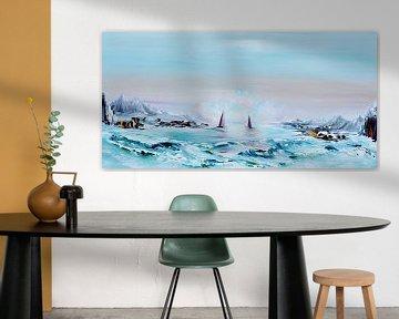 Blue lagoon van Gena Theheartofart