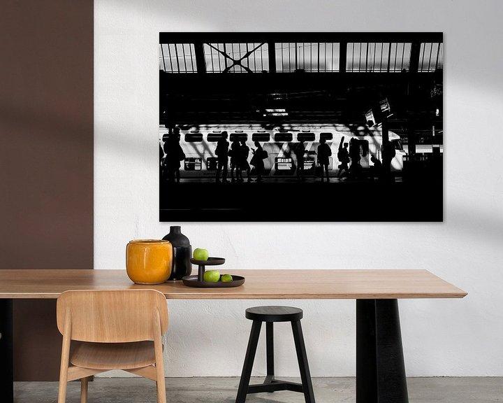 Sfeerimpressie: Perronsilhouetten 8 van Bart Rondeel