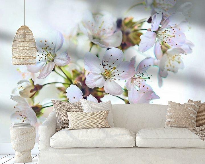 Sfeerimpressie behang: Kersenbloesem van Jeannette Penris