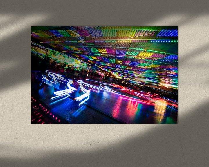 Beispiel: Vergnügungspark, ein Fest aus Licht und Bewegung. von René van der Horst