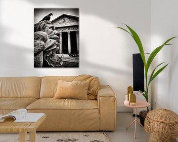 Schwarzweiss-Fotografie: Rom - Fontana del Pantheon von Alexander Voss