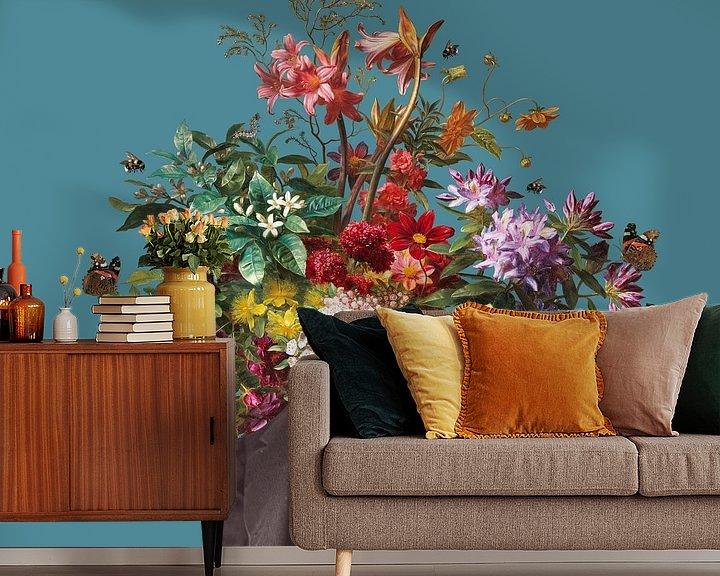 Impression: Autoportrait avec fleurs 16 sur toon joosen