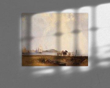 Landschaft bei Quilleboeuf, Frankreich, Richard Parkes Bonington