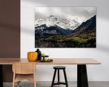 Besneeuwde bergen in Zwitserland van Yvette Baur