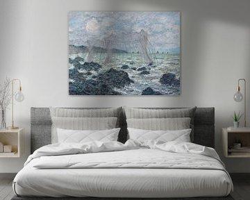 Fischernetze in Pourville, Claude Monet