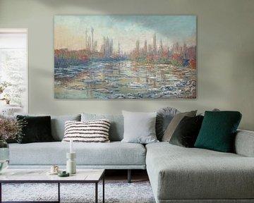 Schwebeeis auf der Seine 02, Claude Monet