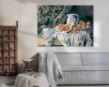 Stillleben mit Vorhang, Paul Cézanne