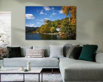 Meer van Bled en Kasteel van Bled in de herfst van iPics Photography