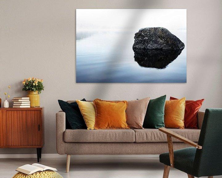 Impression: Roche dans le lac sur Tomas Grootveld