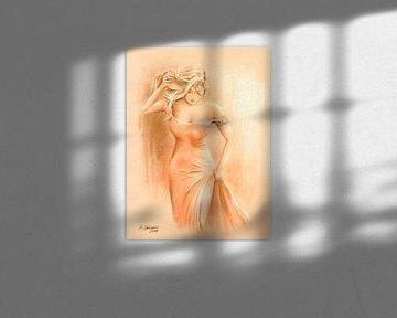 Männertraum im roten Kleid - Erotische Kunst von Marita Zacharias