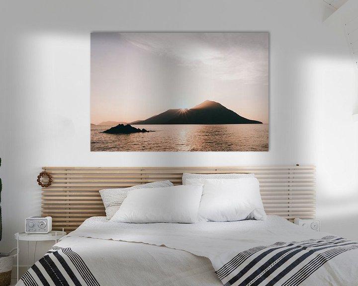 Sfeerimpressie: Grieks eiland bij zonsondergang van Jessie Jansen