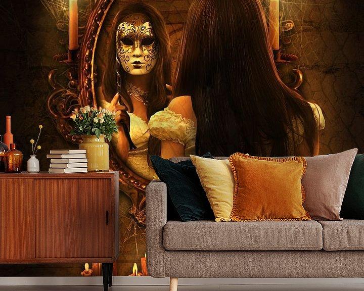 Sfeerimpressie behang: Spiegelbeeld van Babette van den Berg