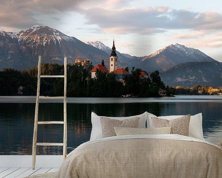 Sfeerimpressie behang: Bled, Slovenië van Jessie Jansen