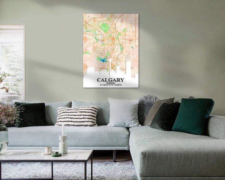Sfeerimpressie: Calgary van Printed Artings