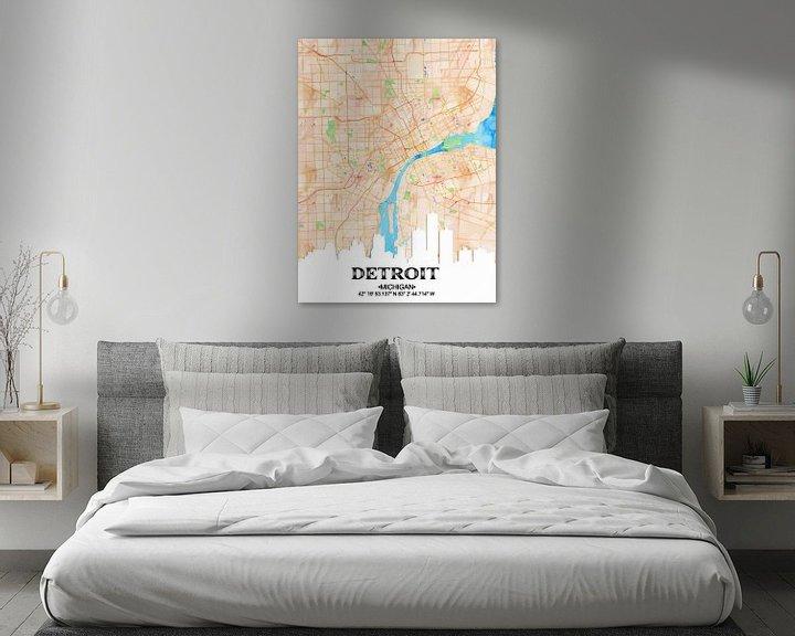 Sfeerimpressie: Detroit van Printed Artings