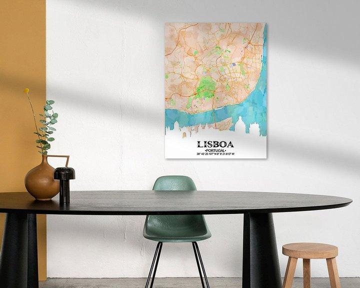 Sfeerimpressie: Lissabon van Printed Artings