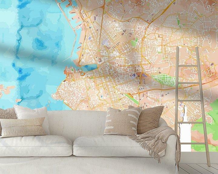 Sfeerimpressie behang: Marseille van Printed Artings