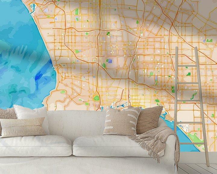 Sfeerimpressie behang: Los Angeles van Printed Artings